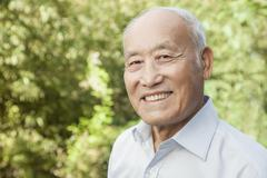 Portrait of Elderly Man Stock Photos