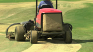 Stock Video Footage of Golf Course Turf Maintenance