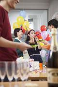 Stock Photo of Colleagues Having Fun At Office Party