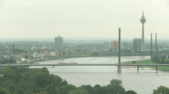 Düsseldorf Panoramic View - stock footage
