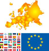Europe map Stock Illustration