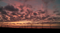 Cloud Timelapse, Sunset Stock Footage