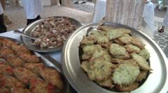 Sicilian sea food. Stock Footage
