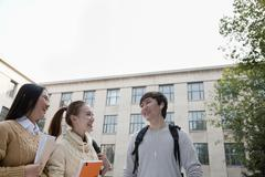 Group of students talking Stock Photos