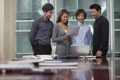 Stock Photo of Businesspeople Working Together
