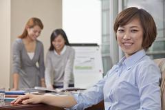Portrait of Smiling Businesswoman Stock Photos