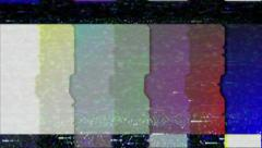 Color Bars Signal Interference Stock Footage