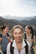Stock Photo of Women hiking, portrait