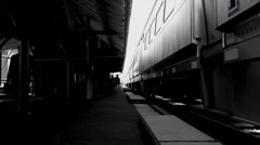 Commuter Train Morning Time Lapse Stock Footage