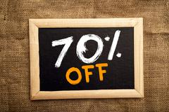 Seventy percent off Stock Photos