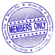 Stock Illustration of blue grunge apply members only stamp