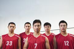 Basketball team, portrait - stock photo