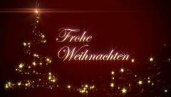 Frohe Weihnachten Background Stock Footage
