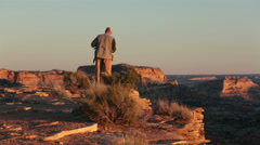 Photographer San Rafael Grand Canyon Wedge overlook sunset HD 9875 Stock Footage