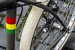 bicycle detail - stock photo