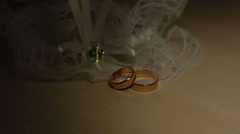 Wedding bands Stock Footage