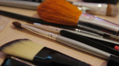 Make-up brushes Stock Footage