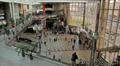 Railway station, people motion. Footage