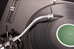 Stock Photo of dj's turntable