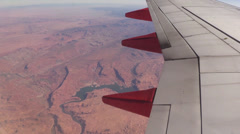 Flyover Southwestern desert, river Stock Footage