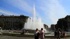 Italy Milan piazza castello Stock Footage