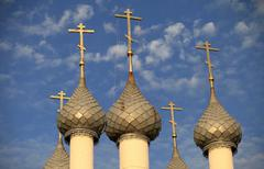 church domes - stock photo