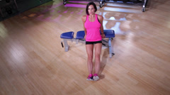 Bench Dip Workout Stock Footage