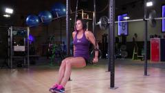 Tricep Dips on Olympic Rings Stock Footage