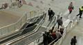 Escolator on railway station, people motion. HD Footage