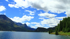 Lake St.Moritz, Engadin, Switzerland Stock Footage