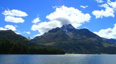 Lake St.Moritz, Engadin, Switzerland - stock footage