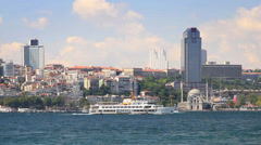 Besiktas region from the waterside Stock Footage