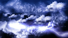 Storm with Lightnings on Sky Stock Footage