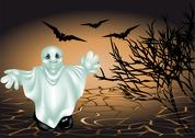 Stock Illustration of halloween ghost