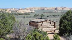 San Rafael Swell desert Utah historic Swasey Cabin HD 9892 Stock Footage