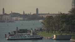 Venice dolly shot entering main city, dramatic view Stock Footage
