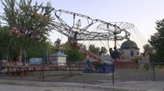 Old amusement park in Uzbekistan Stock Footage