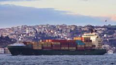Container Transportation. - stock footage