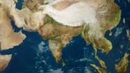 4K UltraHD Earth Zoom to India 3597 Stock Footage
