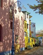Famous street of la boca in  buenos aires Stock Photos