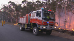 Rural Fire Service back burns during Sydney bush fire PT9 Stock Footage
