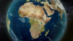 4K UltraHD Earth Zoom to Africa 3598 Stock Footage