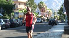 Jogging, Giardini Naxos Stock Footage