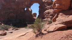 Stock Video Footage of Arches National Park Lens Flair