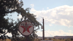 Hole In the Rock Texaco Sign TL - stock footage