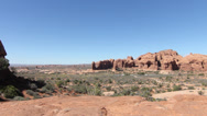 Stock Video Footage of Arches National Park Pan