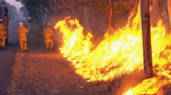 Rural Fire Service back burns during Sydney bush fire PT11 Stock Footage