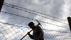 Prisoners Walk Stock Footage