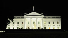 The White House at Night -  4K -  4096x2304 Stock Footage