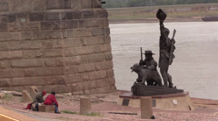 St. Louis , Lewis and Clark, homelessness Stock Footage